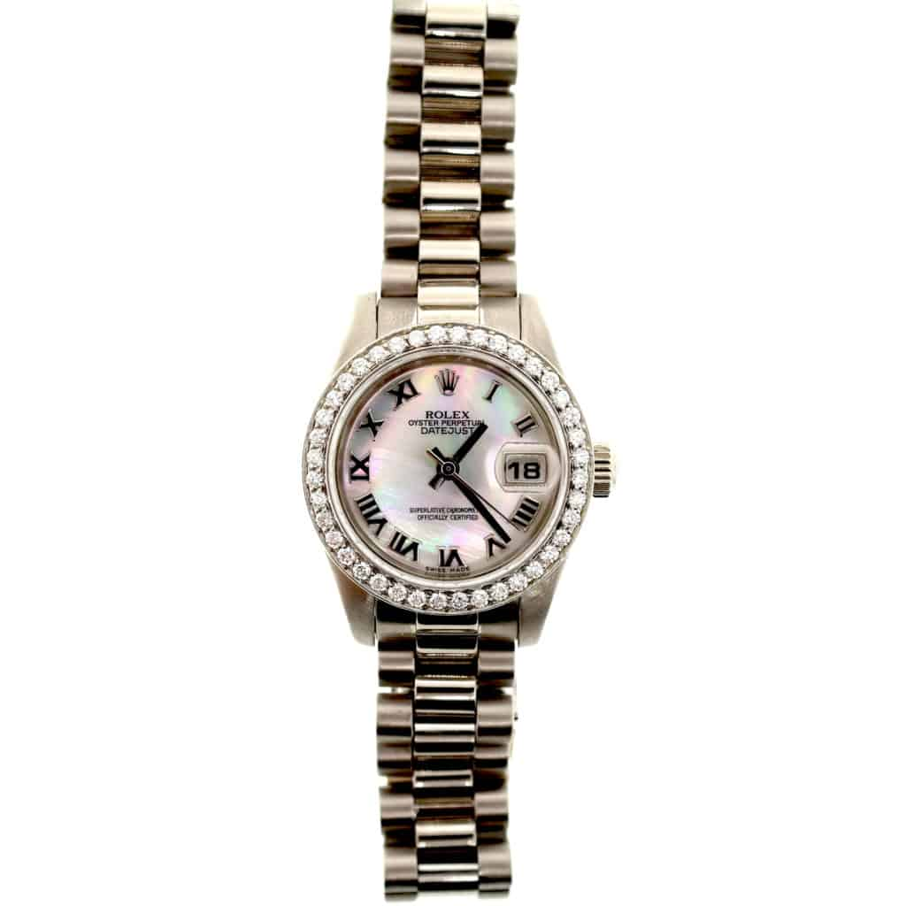Ladies Rolex Date Just Mother of Pearl Dial