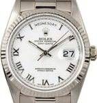 18K White Gold Rolex President