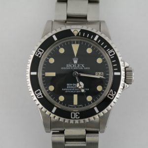 "Vintage Rolex Sea-Dweller 1665 ""Great White"" Matte Black Dial Oyster Circa 1979"