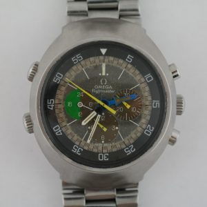 Vintage Omega Flightmaster 145.013 Stainless Steel Tropical Dial