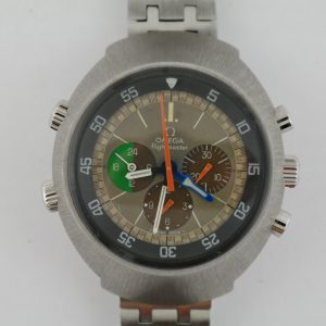 Vintage Omega Flightmaster 145.013 MK1 Orange Second Hands Stainless Steel 43mm