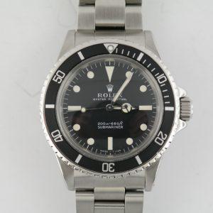 """Vintage Rolex Submariner 5513 """"Meters First"""" Matte Black Tritium Dial Circa 1967"""