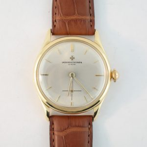 Vintage Vacheron Constantin Manual Wind 18K Yellow Gold 33mm Brown Leather Strap