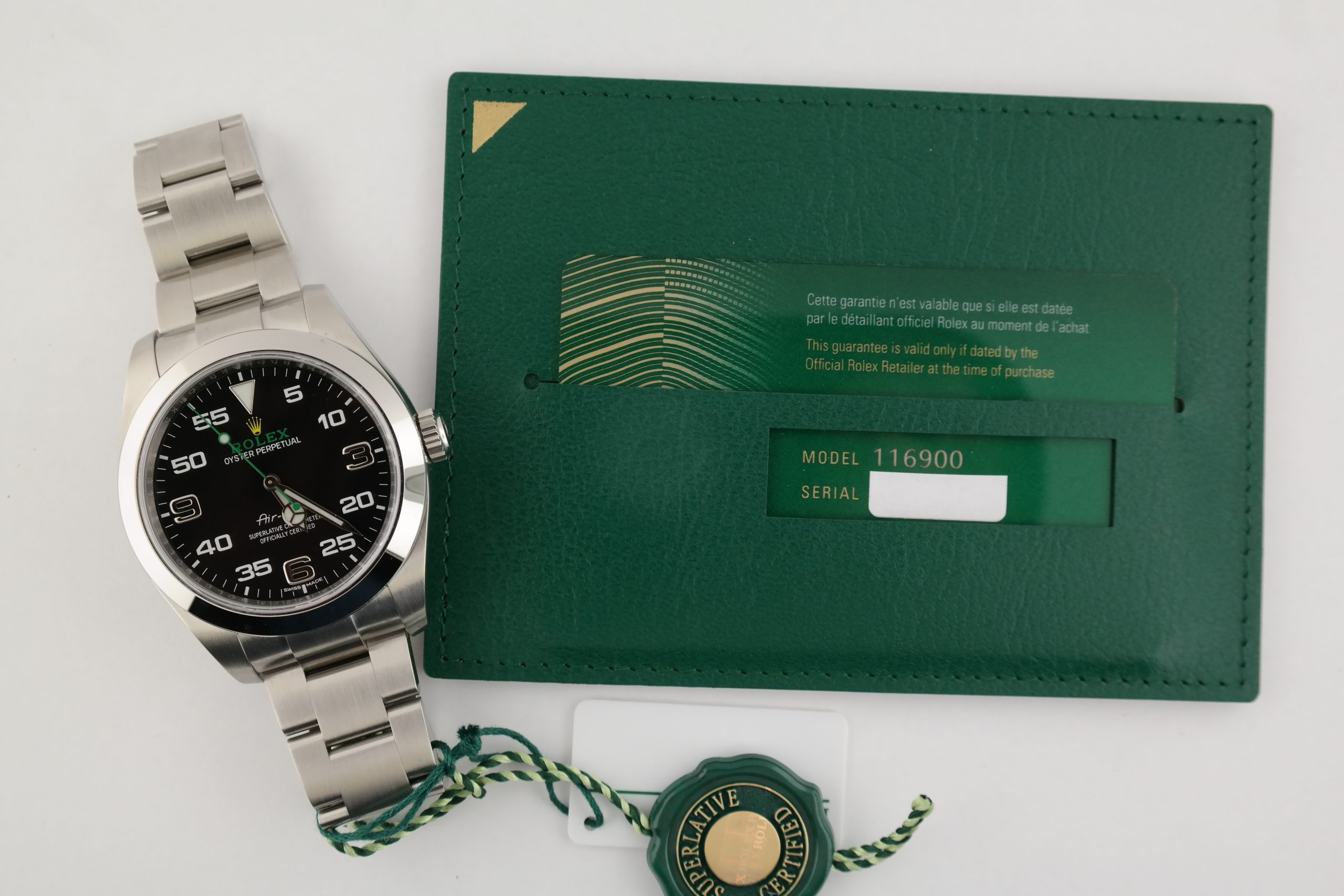 Rolex Air-King 116900 40mm Black Dial Oyster Perpetual Box & Papers Year 2020