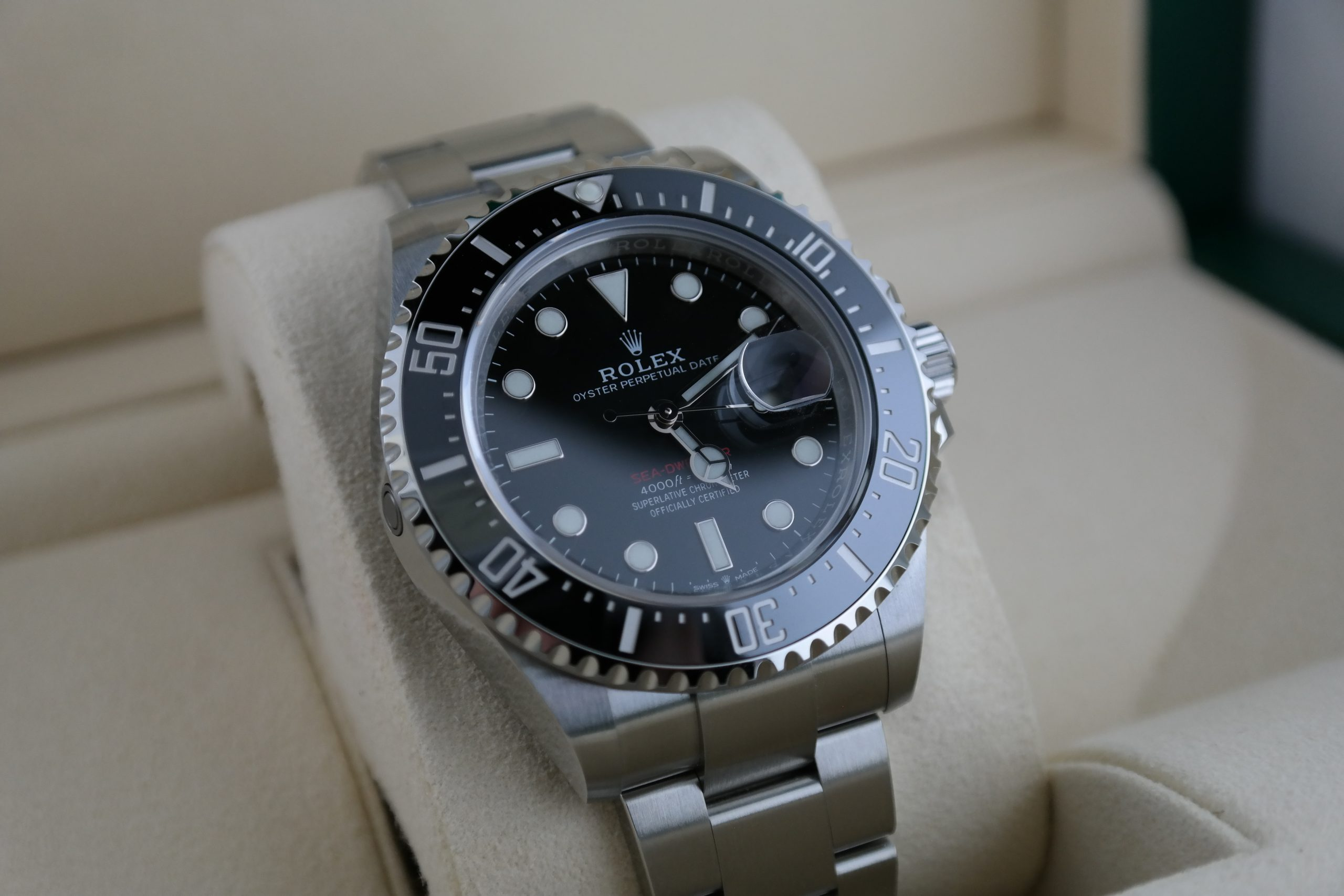 "Men's Rolex Sea-Dweller 126600 ""Red Sea"" Stainless Steel 43mm Box & Paper 2020"