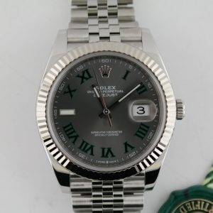 "Rolex Datejust 41 126334 Slate ""Wimbledon"" Dial Jubilee Band Box & Papers 2020"