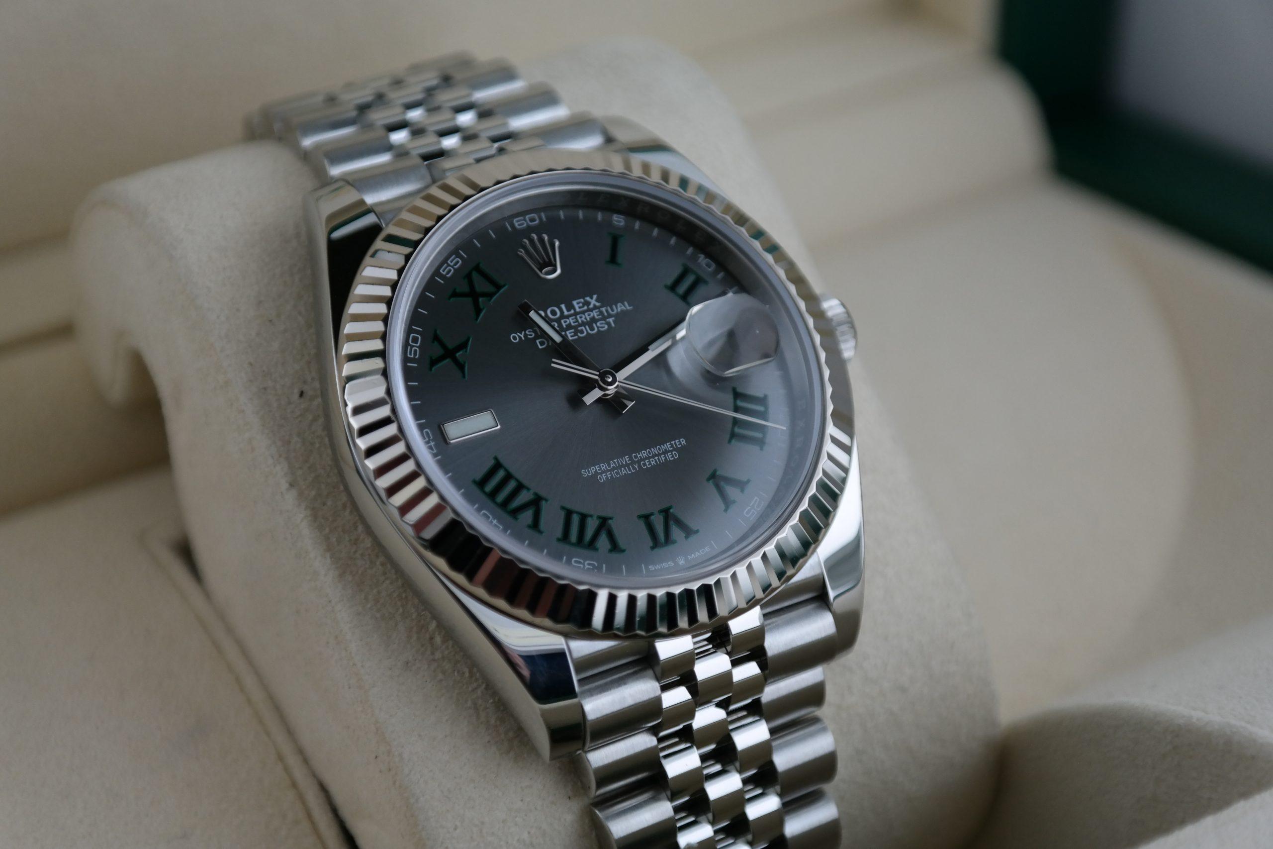 "Rolex Datejust 41 126334 Slate ""Wimbledon"" Dial Jubilee Band Box & Papers 2020"