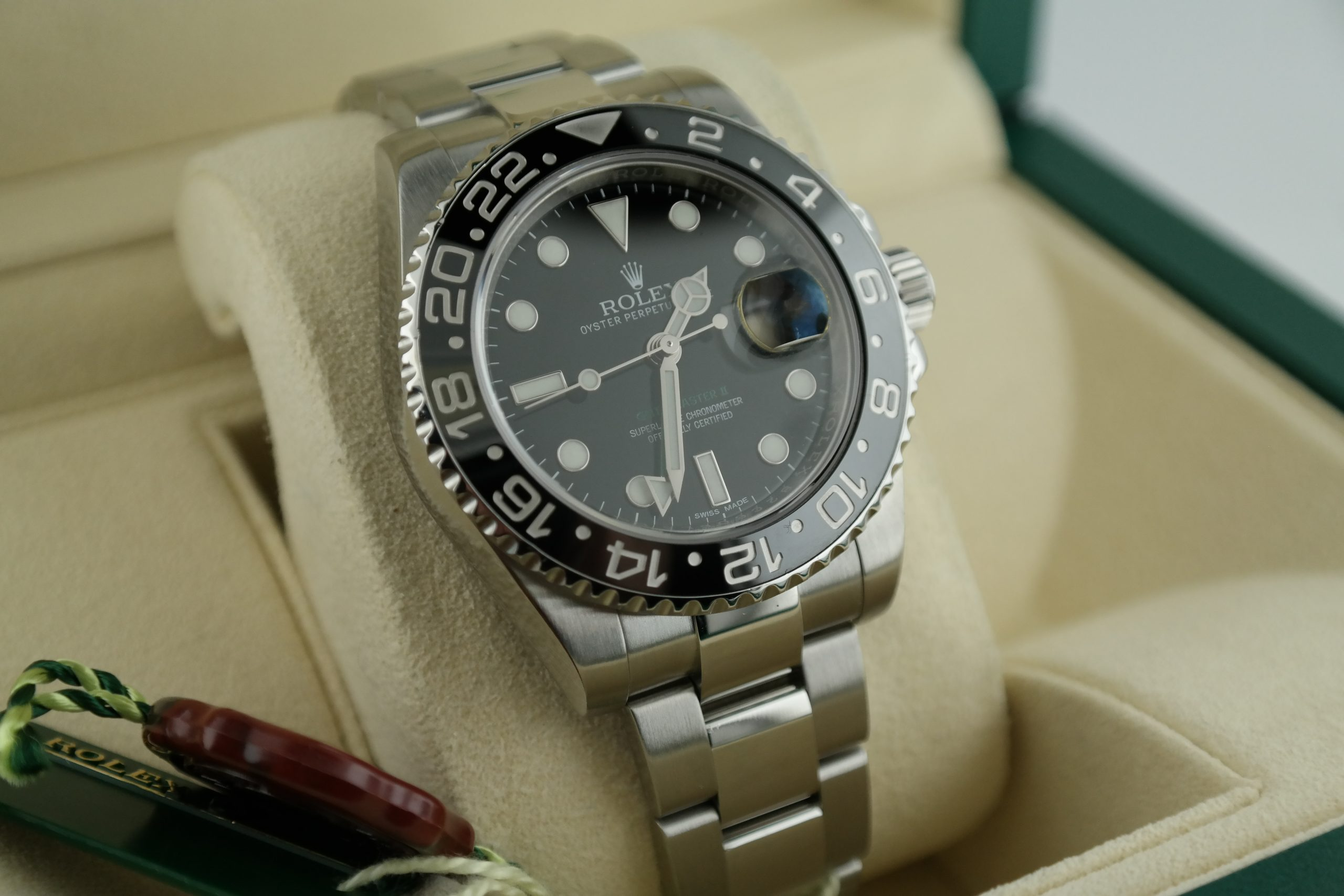 Rolex GMT-Master II 116710LN Black Ceramic Bezel & Dial Box & Papers Year 2015