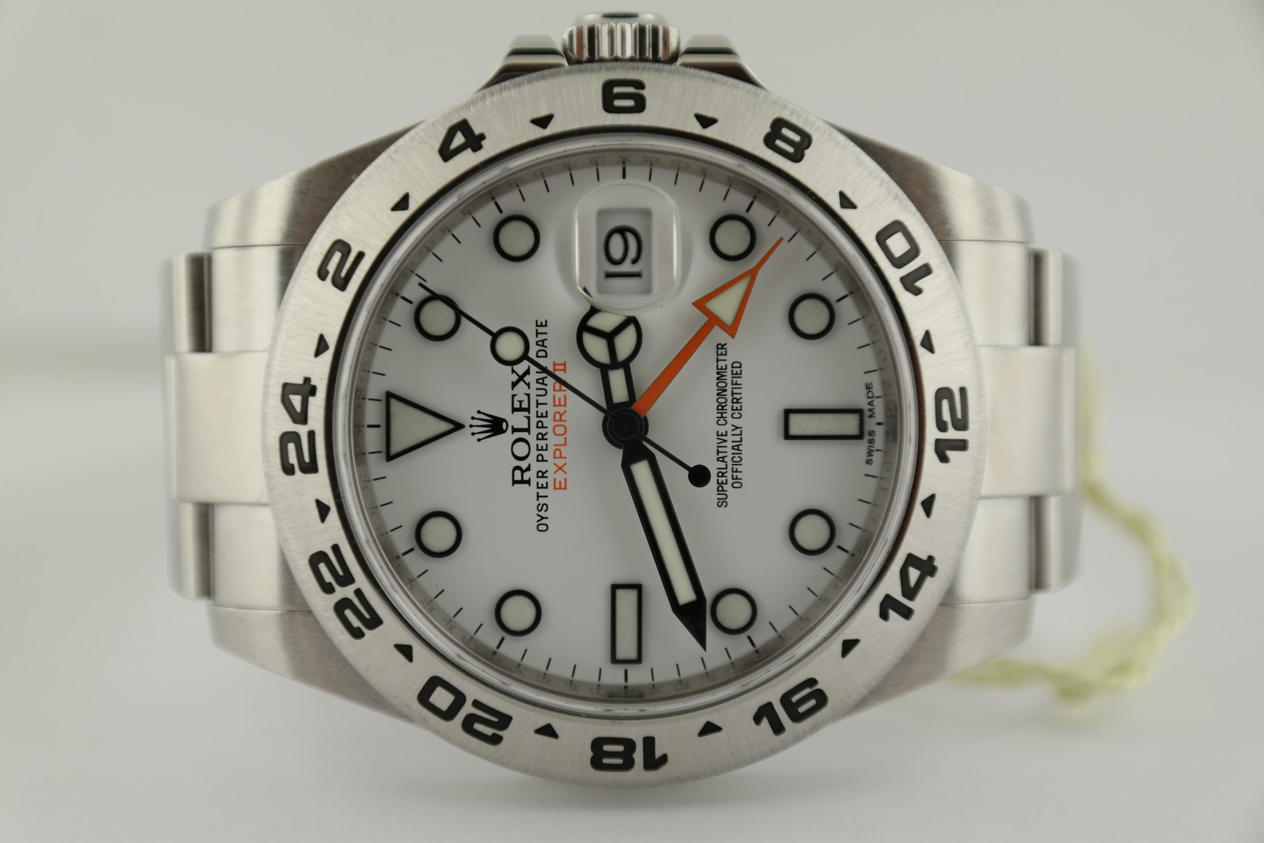 Rolex Explorer II 216570 Polar White Dial Oyster Band 42mm Box & Papers 2014