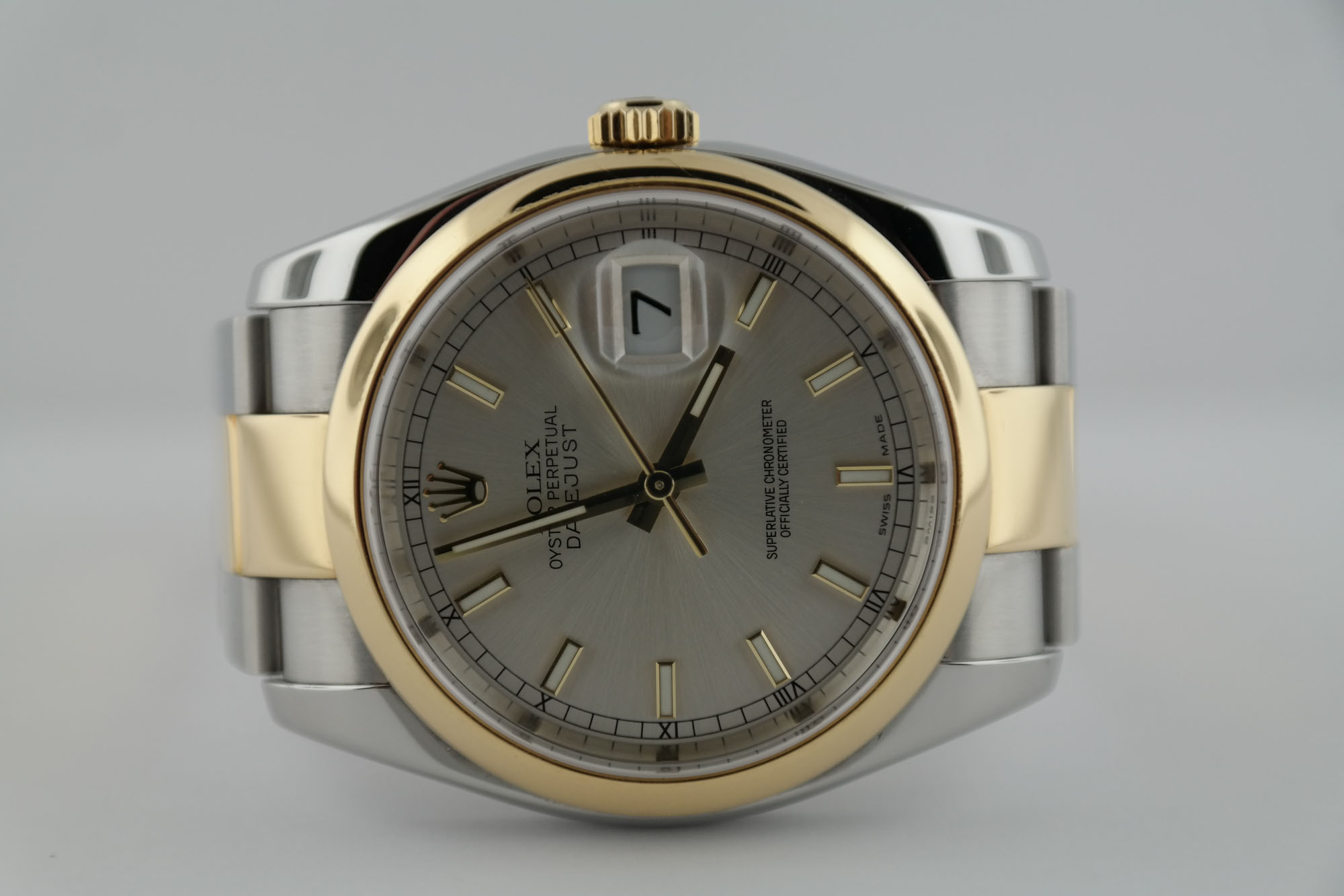 Rolex Datejust 116203 Silver Index Dial Oyster Band Smooth Bezel Two-Tone 2005