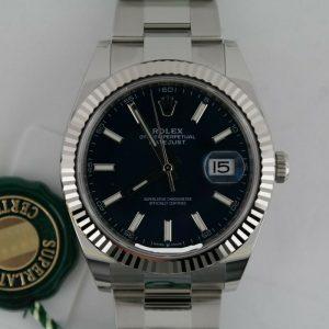 Rolex DateJust 41 Blue Index DIal