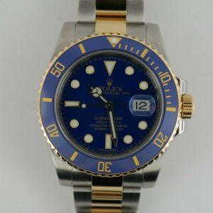 Rolex 2 Tone Blue Blue Submariner